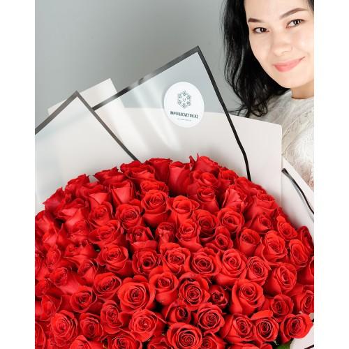 Купить на заказ Заказать Букет из 101 красной розы с доставкой по Темиртау с доставкой в Темиртау